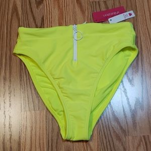 New! Sz Small High rise Bikini Bottom, zipper